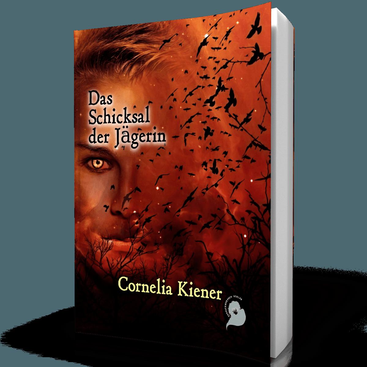 """Symbolabbildung: Buch """"Das Schicksal der Jägerin"""" von Cornelia Kiener"""